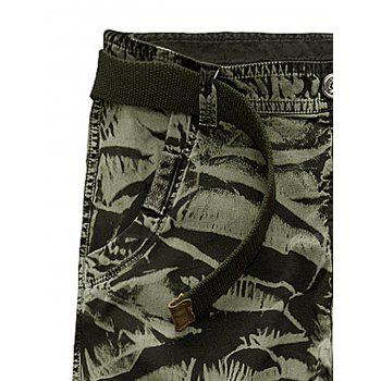 Multi Pockets Zipper Fly Slimming Cargo Pants - ARMY GREEN CAMOUFLAGE 36
