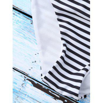 Pinstriped String Straps Bikini Suits - BLACK STRIPE S