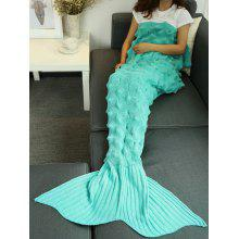 Yarn Crochet Throw Bed Sofa Mermaid Tail Blanket