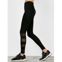 High Waisted Mesh Insert Sports Running Leggings