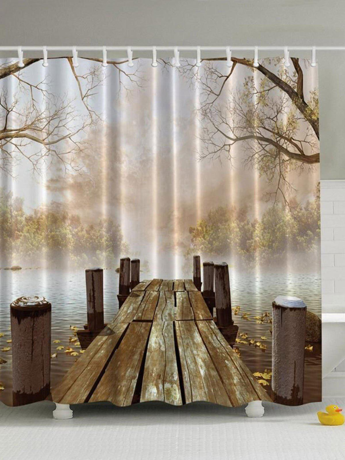 Nature Scenery Waterproof Polyester Shower Curtain nature scenery printed polyester waterproof shower curtain