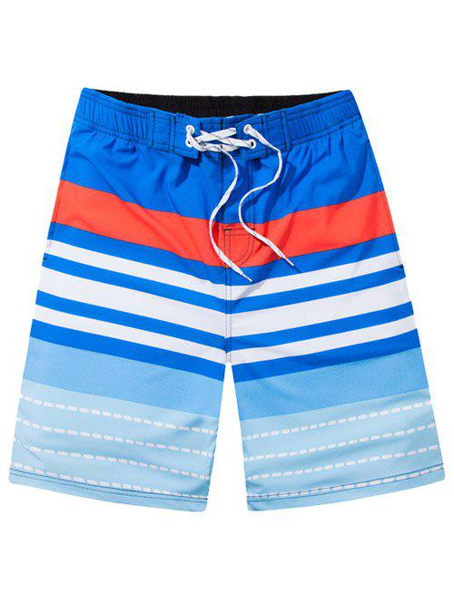 Short rayé Retour Pocket Boart - Bleu Ciel 4XL
