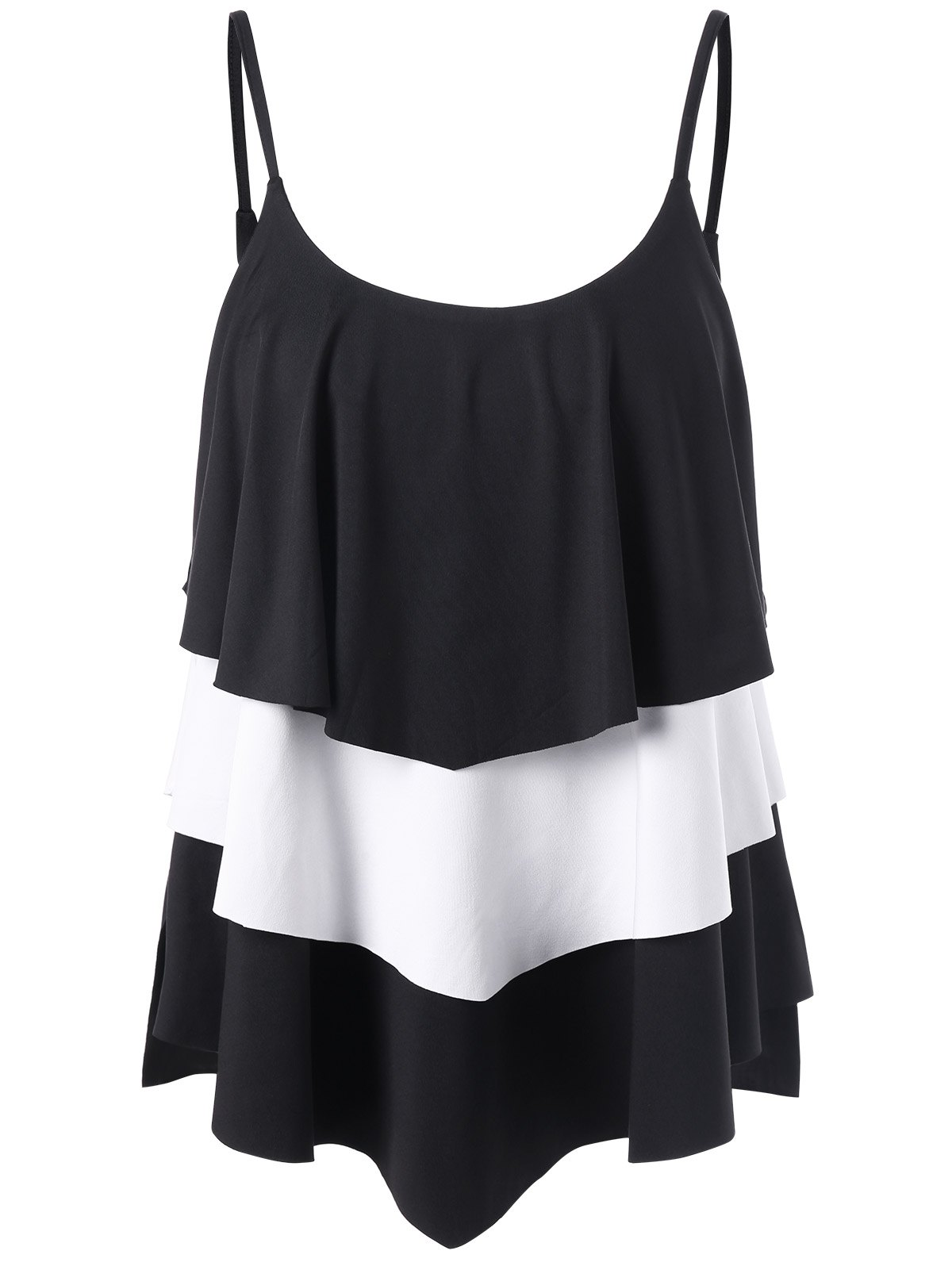 Tank Top Layered Two Tone - Blanc et Noir 2XL