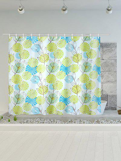 Plant Printed Polyester Waterproof Shower Curtain nature scenery printed polyester waterproof shower curtain
