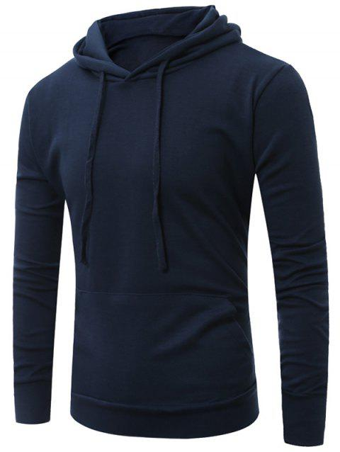 Sweat à Capuche Simple avec Poche Kangourou - Bleu Cadette XL