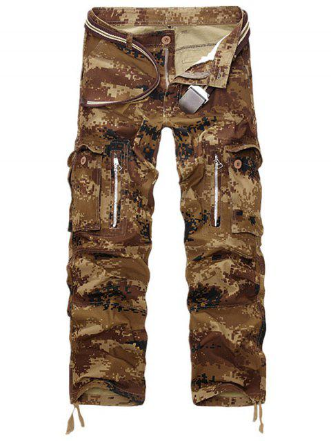 Pockets Design Straight Leg Cargo Pants - MARPAT DESERT 36