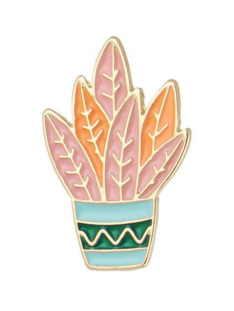 Adorn Cactus Brooch - ORANGE