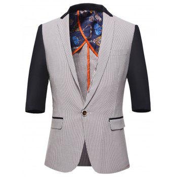 One Button Pinstripes Blazer