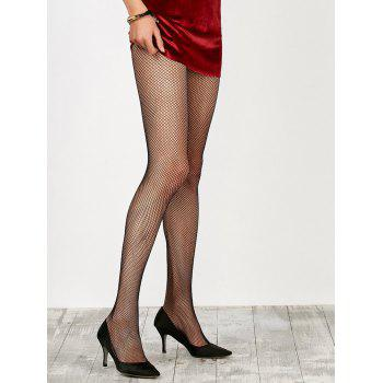 Dress Wear Small Weave Fishnet Pantyhose - BLACK ONE SIZE