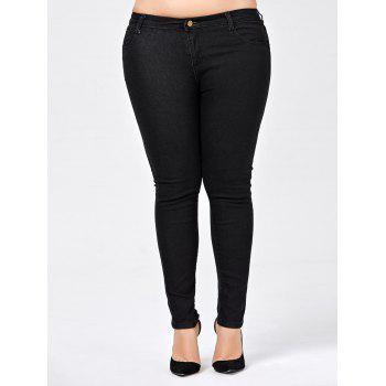 Plus Size Skinny Jeans with Pocket