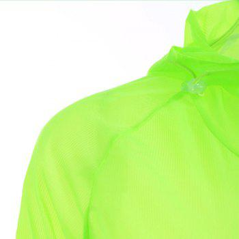 Lightweight Raglan Sleeve Hooded Sun Protection Skin Windbreaker - ONE SIZE ONE SIZE