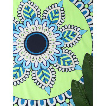 Round Mandala Lotus Beach Throw Cover - COLORMIX COLORMIX