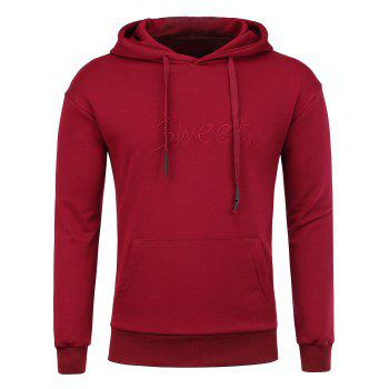 Kangaroo Pocket Sweet Embroidered Hoodie