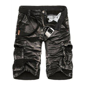 Multi Pockets Camouflage Tie Dye Cargo Shorts