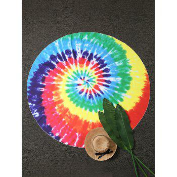 Colorful Tie Dye Round Beach Throw