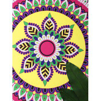 Mandala Lotus Imprimer Plage Round Throw - multicolorcolore ONE SIZE