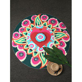 Round Floral Beach Cover Throw