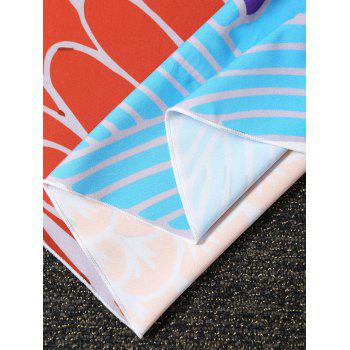 Peach Print Fish Scale Round Beach Throw - COLORMIX COLORMIX