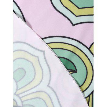 Round Printed Beach Cover Throw - PINKISH PURPLE PINKISH PURPLE