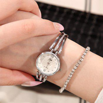 JW Rhinestone Analog Bracelet Watch