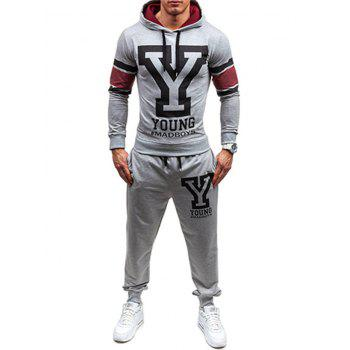 Jogger Pants and Graphic Hoodie