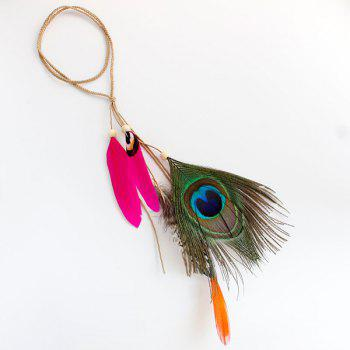 Peacock Feather Pendant Headband