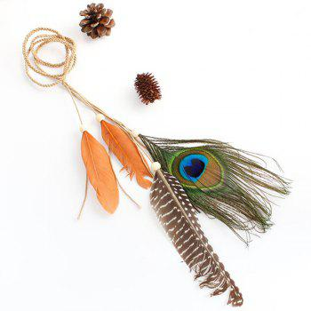 Peacock Feather Tassel Headband