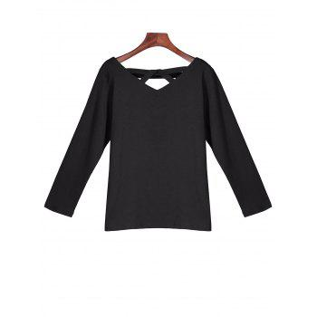 Cut Out Long Sleeves Tee