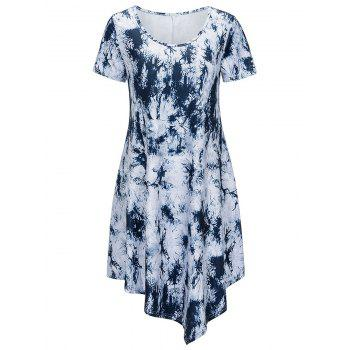Scoop Neck Printed Asymmetrical Dress