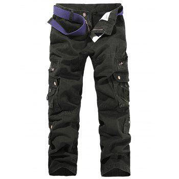 String Design Embroidered Cargo Pants