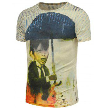 Funny and Graphic Printed T-Shirt - COLORMIX 3XL