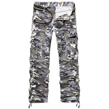 Pockets Design Straight Leg Cargo Pants