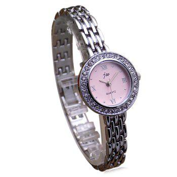 JW Metallic Rhinestone Analog Watch