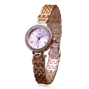 JW Alloy Band Rhinestone Quartz Watch