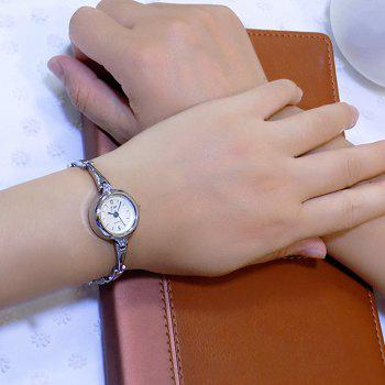 JW Number Metallic Bracelet Watch
