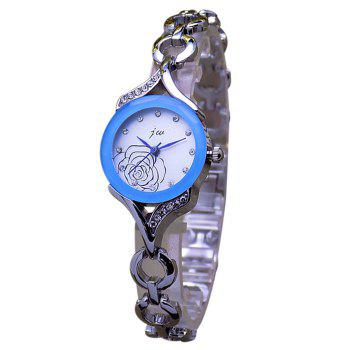 JW Flower Rhinestone Bracelet Watch