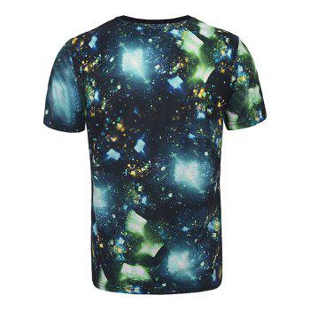 3D Cullet Galaxy Print Trippy T-Shirt - multicolor multicolor