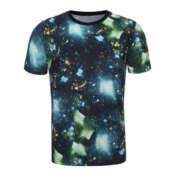 3D Cullet Galaxy Print Trippy T-Shirt - MULTI multicolor