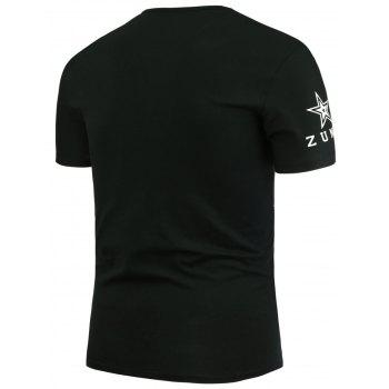 Star and Lines Printed T-Shirt - M M