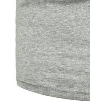 Star and Lines Printed T-Shirt - LIGHT GREY LIGHT GREY
