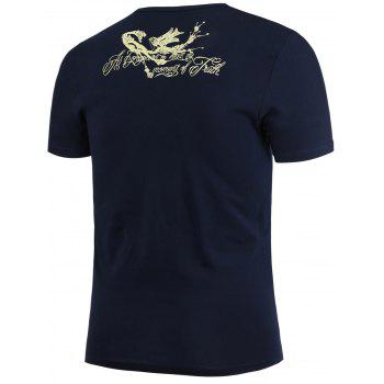 Bird Printed V Neck T-Shirt - 3XL 3XL