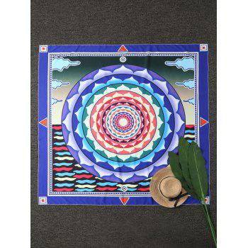 Mandala Square Compass Beach Throw