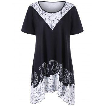 Plus Size Paisley Tunic Top