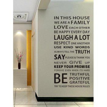 Home Decor We Are Family Proverb Wall Stickers