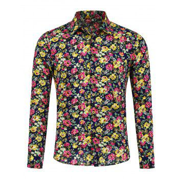 Long Sleeve Peony Shirt - FLORAL FLORAL
