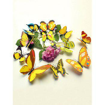 12 Pcs Simulation Butterfly Decor Wall Stickers