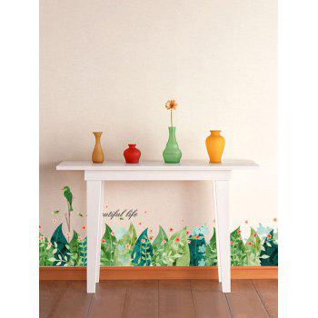 Leaves Pattern Room Skirting Line Wall Stickers