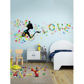 Colorful Dandelion Love Cartoon Wall Stickers For Bedroom