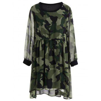 Chiffon Camo Plus Size Dress