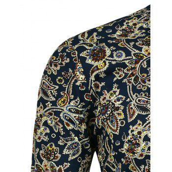 Long Sleeve All Over Paisley Print Shirt - FLORAL FLORAL